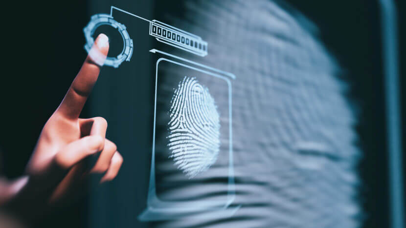facial or fingerprint recognition